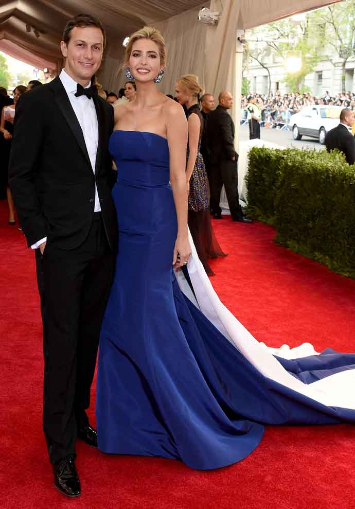 NEW YORK, NY - MAY 04: Jared Kushner and Ivanka Trump attend the 'China: Through The Looking Glass' Costume Institute Benefit Gala at the Metropolitan Museum of Art on May 4, 2015 in New York City. (Photo by Larry Busacca/Getty Images)