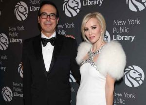 Steven Nmuchin and Louise Linton attend New York Public Library's 2016 Library Lions Gala to Honor Harry Belafonte, Peggy Noonan, Hilary Mantel, Javier Marías and Colm Tóibín