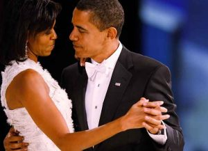 Photo: WASHINGTON - JANUARY 20: (AFP OUT) US President Barack Obama dances with his wife and First Lady Michelle Obama during the Western Inaugural Ball on January 20, 2009 in Washington, DC. President Barack Obama was sworn in as the 44th President of the United States today, becoming the first African-American to be elected President of the US. (Photo by Chip Somodevilla/Getty Images)