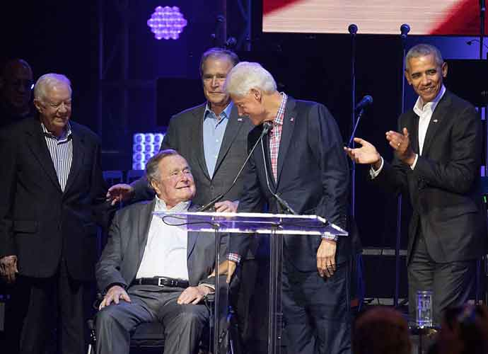 All Five Living Former Presidents Meet In Texas For Hurricane Relief Benefit [Full Video]