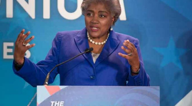 MANCHESTER, NH - FEBRUARY 05: Donna Brazile, Vice Chairwoman of the Democratic National Committee and Democratic political strategist during Comedy Central's 'The Daily Show with Trevor Noah' Presents 'Podium Pandemonium: A Debate About Debates,' New Hampshire Primary 2016 off-air event & post-reception at the Radisson Hotel on February 5, 2016 in Manchester, New Hampshire. (Photo by Scott Eisen/Getty Images for Comedy Central)