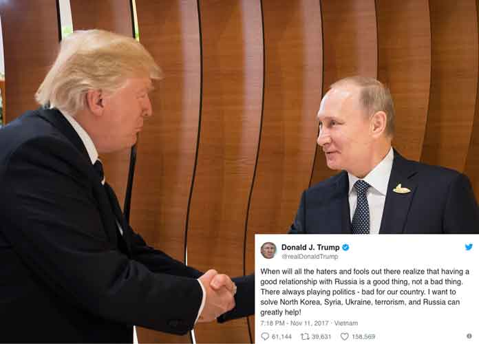Vladimir Putin Does Not Deny Rumors Of Donald Trump's Infamous 'Pee Tape'