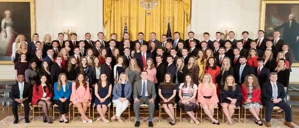 White House Releases Spring 2018 Intern Photo With 98.5% White Makeup, Many Decry Lack Of Diversity