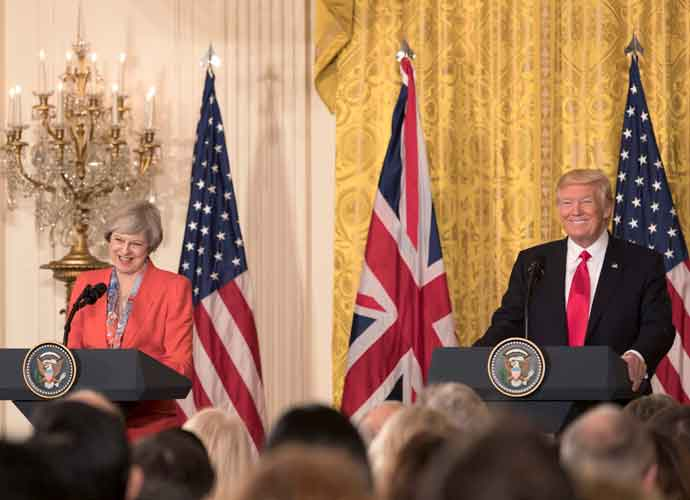 "Donald Trump Told Theresa May To ""Sue The E.U."" Over Brexit"