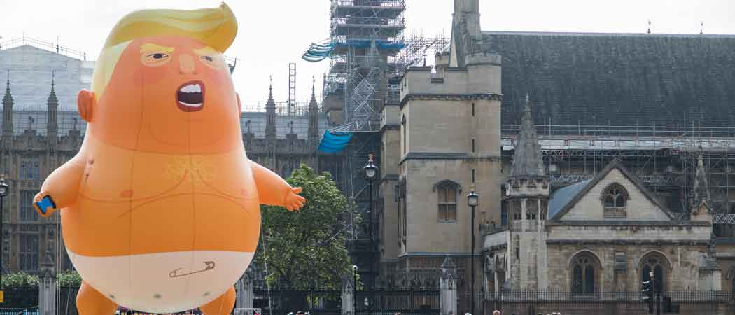 250,000 March To Protest Donald Trump In London With Baby Trump Balloon Looming Over