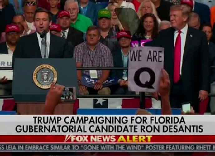 What Is QAnon? Right-Wing Conspiracy Group Makes A Splash At Florida Trump Rally