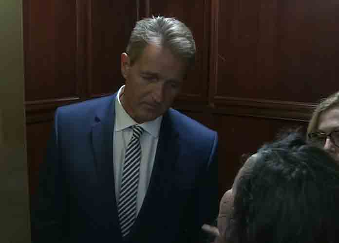 Two Sexual Assault Survivors Confront Jeff Flake After Senator Announces Vote To Confirm Brett Kavanaugh [VIDEO]