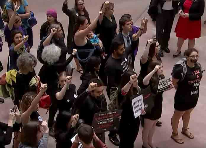 Brett Kavanaugh Protesters & Supporters Clash Amid Hearings In D.C.; 59 Arrested Near Supreme Court