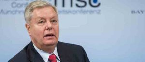 Lindsey Graham, United States Senator, addressing the 53rd Munich Security Conference (MCS) at the Hotel Bayerischer Hof in Munich, Germany. (Image: Getty)