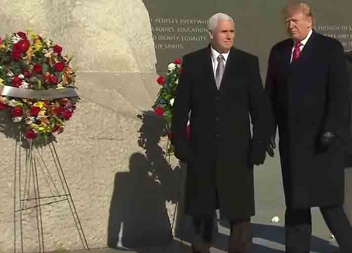 Donald Trump Visits Martin Luther King Memorial For 2 Minutes, Draws Criticism