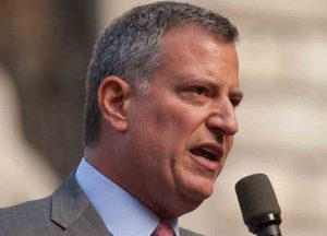New York City Mayoral front runner Bill de Blasio Date 2 November 2013, 12:47 Source Bill de Blasio Author Kevin Case from Bronx, NY, USA (Wikipedia)