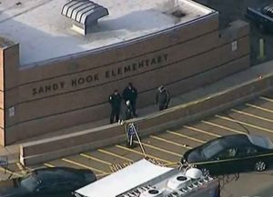 Police at Sandy Hook Elementary after mass shooting (Image: Wikimedia)
