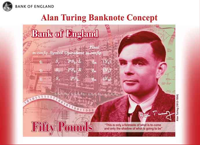 Britain's New £50 Note To Honor Gay Codebreaker & Computer Pioneer Alan Turing