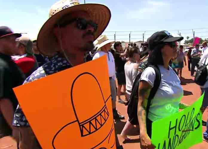 El Paso Protesters Blame Trump's Anti-Immigrant Rhetoric For Mass Shooting