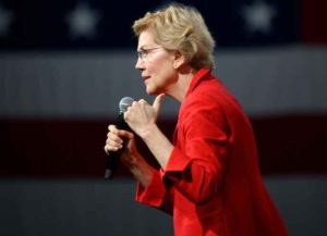 DES MOINES, IA - AUGUST 10: Democratic presidential candidate Sen. Elizabeth Warren (D-MA) speaks on stage during a forum on gun safety at the Iowa Events Center on August 10, 2019 in Des Moines, Iowa. Today Warren and her campaign introduced a gun control plan to reduce gun deaths by 80 percent. (Photo: Getty)