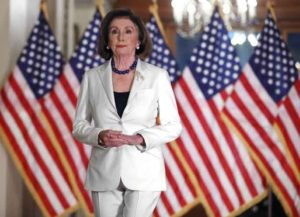 WASHINGTON, DC - DECEMBER 05: Speaker of the House Nancy Pelosi (D-CA) announced that the House will proceed with articles of impeachment against President Donald Trump at the Speaker's Balcony in the U.S. Capitol December 05, 2019 in Washington, DC. (Photo: Getty)