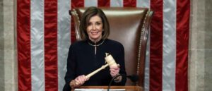 WASHINGTON, DC - DECEMBER 18: Speaker of the House Nancy Pelosi (D-CA) presides over Resolution 755 as the House of Representatives votes on the second article of impeachment of US President Donald Trump at in the House Chamber at the US Capitol Building on December 18, 2019 in Washington, DC. (Image: Getty)
