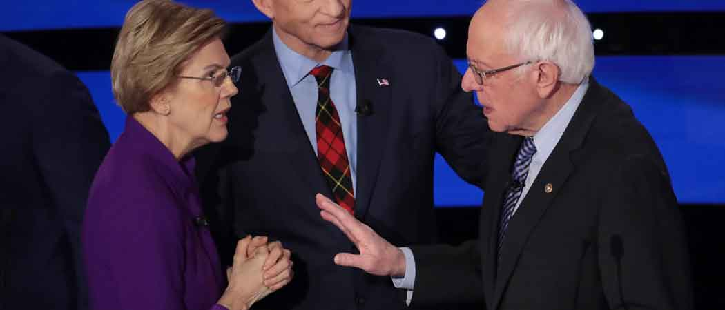 Warren Refuses Handshake From Sanders At Democratic Debate [Photos]