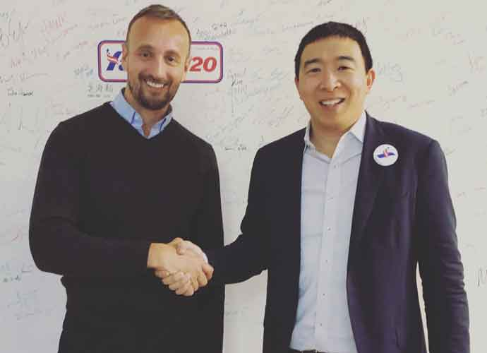 uPolitics.com Founder Erik Meers with former Democratic presidential candidate Andrew Yang after his uInterview.
