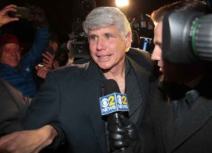 CHICAGO, ILLINOIS - FEBRUARY 19: Former Illinois governor Rod Blagojevich arrives home from prison after his sentence was commuted by President Donald Trump on February 19, 2020 in Chicago, Illinois. Blagojevich had been serving time in federal prison for attempting to sell Barack Obama's vacant Senate seat when Obama was elected president. (Image: Getty)