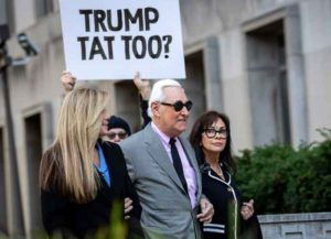 WASHINGTON, DC - NOVEMBER 5: Roger Stone (C), former advisor to President Donald Trump, walks with his wife Nydia Stone (R) and his legal team as he arrives for the first day of his trial at the E. Barrett Prettyman United States Courthouse on November 5, 2019 in Washington, DC. (Image: Getty)