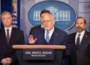 CDC Director Robert Redfield at White House coronavirus briefing (Image: Getty)