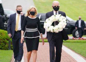 Joe & Jill Biden Mark Memorial Day Wearing Masks At Delaware Military Cemetery (Photo: Gettty)