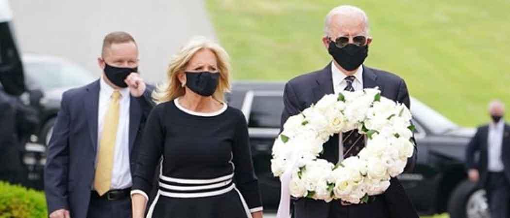 Joe & Jill Biden Mark Memorial Day Wearing Masks At Delaware Military Cemetery