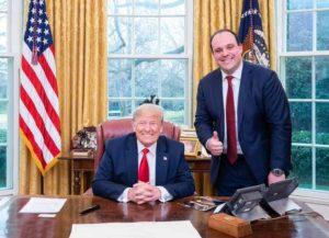 Boris Epshteyn with Donald Trump (Photo: White House)