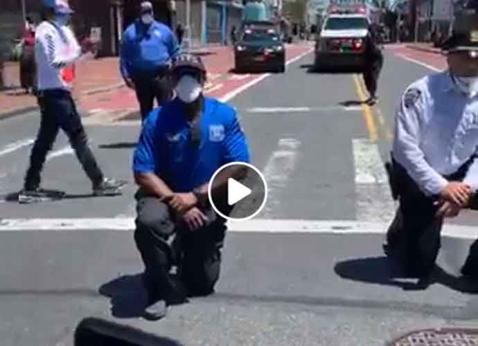 Watch: NYPD Officers Kneel With George Floyd Protesters