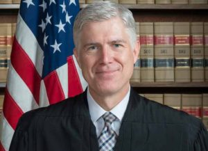 Associate Supreme Court Justice Neil Gorsuch