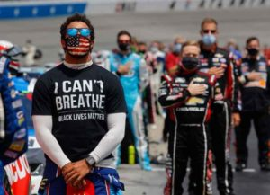 Bubba Wallace at NASCAR protest