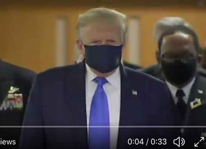 Trump Wears A Mask At A Public Event For The First Time During Trip To Walter Reed Medical Center