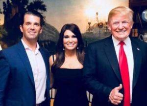 Kimberly Guilfoyle with boyfriend Donald Trump Jr. and President Trump