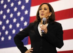 NASHUA, NEW HAMPSHIRE - MAY 15: Democratic presidential candidate U.S. Sen. Kamala Harris (D-CA) speaks at a campaign stop on May 15, 2019 in Nashua, New Hampshire.