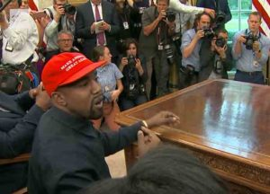 Kanye West meets with Donald Trump in the Oval Office