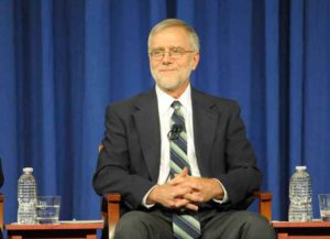 HEMPSTEAD, NY - OCTOBER 18: Howie Hawkins of the Green Party, running for New York State Governor, speaks during the gubernatorial debate at Hofstra University October 18, 2010 in Hempstead, New York.