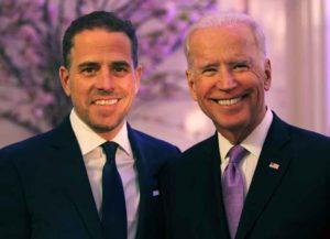 WASHINGTON, DC - APRIL 12: World Food Program USA Board Chairman Hunter Biden (L) and U.S. Vice President Joe Biden attend the World Food Program USA's Annual McGovern-Dole Leadership Award Ceremony at Organization of American States on April 12, 2016 in Washington, DC.
