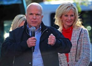 John & wife Cindy McCain in 2016 campaign event