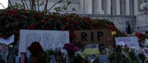 WASHINGTON, DC - SEPTEMBER 19: Mourners created a memorial in front of the US Supreme Court in honor of Supreme Court Justice Ruth Bader Ginsburg on September 19, 2020 in Washington, DC. Justice Ginsburg has died at age 87 after a battle with pancreatic cancer.