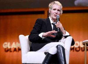 NEW YORK, NEW YORK - NOVEMBER 10: E. Jean Carroll speaks onstage during the How to Write Your Own Life panel at the 2019 Glamour Women Of The Year Summit at Alice Tully Hall on November 10, 2019 in New York City.