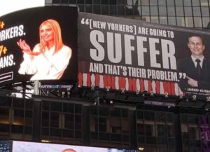 Lincoln Project Targets Ivanka Trump & Jared Kushner With Times Square Ad, Couple Threatens To Sue