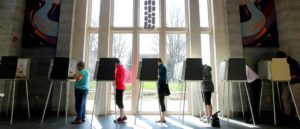 CINCINNATI, OH- MARCH 15: Ohio voters go to the polls for the Ohio primary at the Episcopal Church of the Redeemer March 15, 2016 in Cincinnati, Ohio. The Ohio Republican primary is a winner-take-all state were 66 delegates are up for grabs.