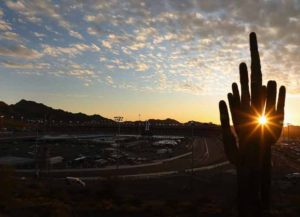 AVONDALE, ARIZONA - MARCH 07: General view as the sun sets following the NASCAR Xfinity Series LS Tractor 200 at Phoenix Raceway on March 07, 2020 in Avondale, Arizona.