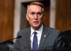 WASHINGTON, DC - SEPTEMBER 16: Sen. James Lankford (R-OK), speaks during a hearing of the Senate Appropriations subcommittee reviewing coronavirus response efforts on September 16, 2020 in Washington, DC.