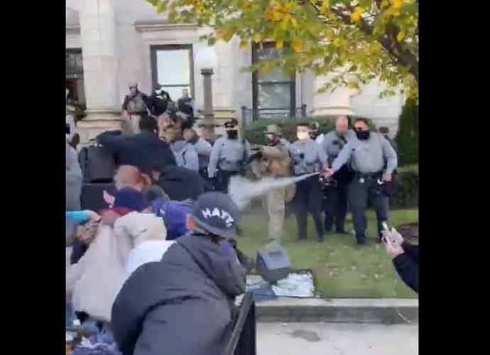 WATCH: Peaceful March To Polls In North Carolina Ends With Police Pepper Spraying Children & Protestors