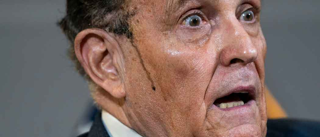 Rudy Giuliani Sweats Off Hair Dye As He Presents Unfounded Claims Of 'Election Fraud' At Press Conference