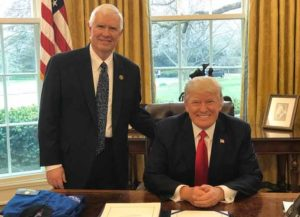 Rep. Mo Brooks (R-Ala.) with former President Donald Trump in the Oval Office (Photo: White House)