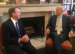 Sen. Rob Portman (R-Ohio) & Supreme Court Justice Brett Kavanaugh (Photo: Wikimedia)