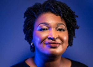 ATLANTA, GA - APRIL 21, 2018: Gubernatorial candidate Stacey Abrams, who defeated Stacey Evans for the democratic nomination in Georgia's governor's race. (Photograph by Benjamin Lowy/Getty Images)